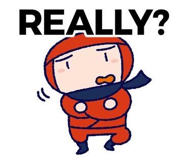 Really? illustration 英語忍者イラスト