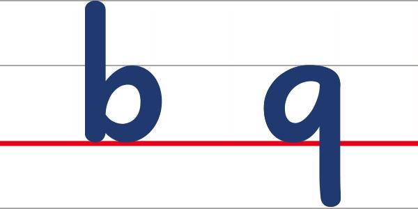 アルファベット小文字のbとqの鏡文字問題